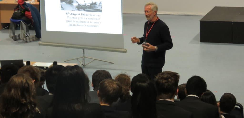 An assembly at Leicester Grammar School