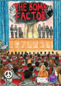 Front cover of our Bomb Factor teaching pack