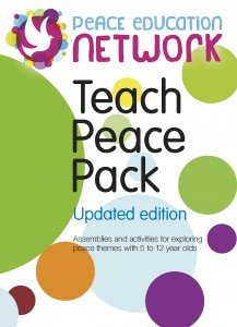 Front cover of the Peace Education Network's 'Teach Peace Pack'
