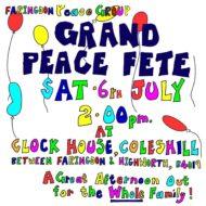 Faringdon 38th Grand Peace Fete A4 flyer